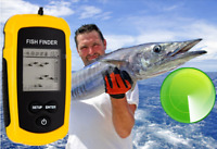 Portable Fish Finder Depth Finder Sonar Sensor Alarm Navigation Transducer Tool