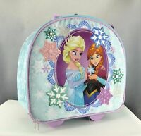 New Authentic Disney Frozen Rolling Luggage Suitcase 15.5 x 14 x 6.5