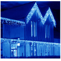 US 10~100FT 96~960 LED Fairy String Icicle Curtain Lights Outdoor Christmas Xmas