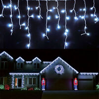 96~960 LED Fairy String Icicle Curtain Light Outdoor Christmas Xmas Connectable