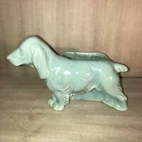 Vintage•Dog Planter•Cocker Spaniel•Teal•Green•Shawnee Pottery