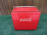 GREAT OLD Red COCA COLA Cooler Chest with Lid Drink Soda Great for Decoration