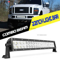 24inch 280W LED Light Bar Curved Spot Flood Offroad  Truck 4WD ATV Boat 22''