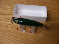 C Hines Heddon Style 250 5 Hook Minnow in Green Bass Crackleback Color