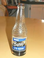 Rare Early Barq Root Beer Capped Bottle Jasper Texas Moon Glo Cap