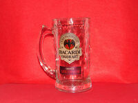 BACARDI OAKHEART SMOOTH SPICED RUM GLASS BEER MUG / STEIN SET OF 2
