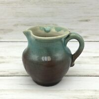 Vintage 1949 Pisgah Forest Pottery Stephen Teal Purple Creamer