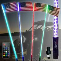 3ft 20 Color 200 Combo LED Whip- Remote-Orange Flag-ATV-UTV-RZR-YXZ-X3-Off Road