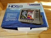 Lowrance HDS-8 Gen 1 Fishfinder+GPS Chartplotter W/ Transducer and Power Cable