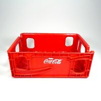 Vintage Coca Cola Red Plastic Bottle Carrier Tray Free Shipping