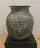 Handcrafted Stoneware Pottery Vase  Pot Urn, Interesting Unusual Texture, Signed
