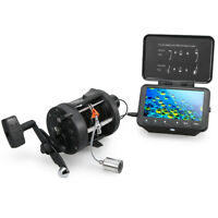 1000TVL Fish Finder Underwater Ice Fishing Camera with Trolling Reel 4.3