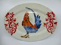 VIETRI GATHER - ROOSTER - OVAL PLATTER - 18