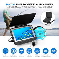 Lixada 15M / 30M 1000TVL Fish Finder Underwater Ice Fishing Camera 4.3