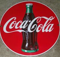 Vintage Coca-Cola Porcelain Enameled Advertising Sign - Andy Rooney Reproduction
