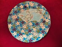 LONGWY ART POTTERY ENAMELED DISH  FRANCE 7 1/4