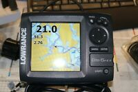 Lowrance  ELITE-5 HDI parts only, GPS works,  w/o xd or power cable.