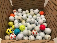 ~200 GOLF BALLS LOT LARGE FLAT RATE BOX mixed Brand Distance Low Spin Etc 20 lbs