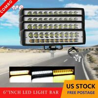 4x 6inch LED Work Light Bar SUV ATV OffRoad Truck Combo Driving Fog Lamps 36W