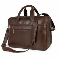 Augus TBA Travel Briefcase Leather Duffel Bags For Men Laptop Fits 15