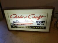 Awesome Chris Craft Authorized Dealer Light Up Advertising Sign ~ Boat House