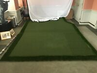 Indoor Golf Inclined Turf Driving Range w/Net 9 1/2 ft. x 14 ft