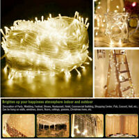Warm LED Christmas Tree Decor Fairy String Lights Outdoor Indoor Party Xmas Lamp