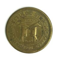 1890 New Haven Connecticut The Celluloid Starch Co. Trade Token Storecard Brass