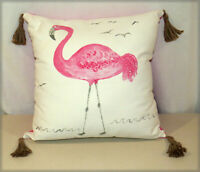 Flamingo Accent Pillow - Pottery Barn for Kids - Flamingo, Tassels 20 x 20