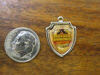 Vintage silver TENNESSEE STATE PIGEON FORGE BLACK BEAR JAMBOREE SHIELD charm #E4