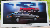 1983 Chevrolet Cavalier CL Showroom Poster Automobile Advertising GM 32