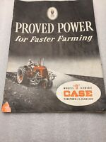 Vintage Case D Series Tractor Booklet Full Three Plow Capacity 23 Pages Color