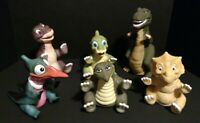 Vintage 1988 Pizza Hut Amblin LAND BEFORE TIME PUPPETS COMPLETE SET OF 6