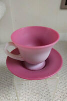 GUNDERSON PEACHBLOW CUP AND MATCHING SAUCER