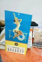 Rare FLYING A GAS VEEDOL MOTOR OIL TIDEWATER TYDOL CALENDAR PIN UP GIRL LADY