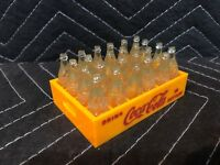 Mini Coca Cola Yellow Plastic Toy Delivery Truck Crate 24 Case Clear Bottle Coke
