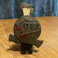 VINTAGE TYDOL OIL LICENSE PLATE TOPPER ORIGINAL GAS STATION SERVICE TIN SIGN