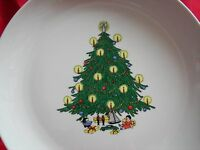 Christmas Serving Platter Large Holiday Christmas Tree Round  12.5