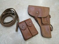 Chinese Tokarev Leather Holster W/ Sling And Double Mag Pouch Type 54 TT33
