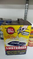 Vintage One Gallon WHIZ LUSTERIZE Car Wax Tin Litho Can ~CAR THEME~