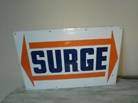 Surge Original Milker Dairy Equipment Advertising Sign Made In USA New Old Stock