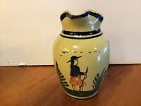 Antique Quimper France Yellow Pitcher as is