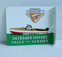 MERCURY OUTBOARD Sales and Service FLANGE SIGN Boat Motor gas oil  modern retro