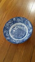 LIBERTY BLUE Vegetable SERVING BOWL Fraunces Tavern Staffordshire England 8.5
