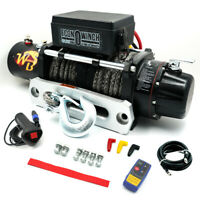 12V Remote 10000LB Electric Winch Steel Cable Kit Offroad ATV UTV Waterproof