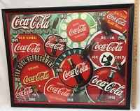 Coca Cola Jigsaw Puzzle Completed Turned Into Framed Picture Year Coke Icons 39