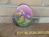 Easter Egg Chick Chocolate Tin c1930s