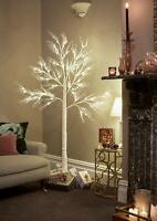 JayMark Products 7ft Christmas Deadwood White Twig Tree Pre Lit 120 LED with W..