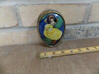 Easter Egg Chick Chicken Bird Dainty Dinah Horner Toffee Tin c1930s