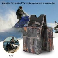 Camo Universal ATV Fuel Tank Bags Saddle Bag Storage Organizer Canvas Waterproof